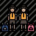 education, students, student, bag, boy, girl, school