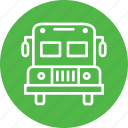 bus, education, fun, picnic, school, student, travel icon