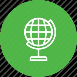 education, map, school, study, world icon