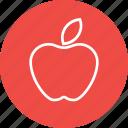 apple, basic, fruit, school, study, teaching icon
