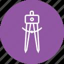 circle, compass, geometry, pen, pencil, tool icon
