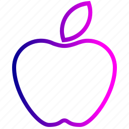 apple, basic, fruit, school, study, teaching icon