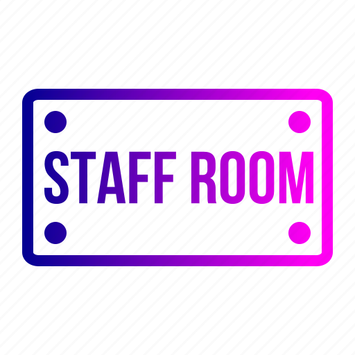 board, nameplate, plate, room, school, staff, study icon
