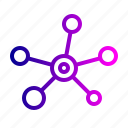 connect, science, atom, mole, research icon