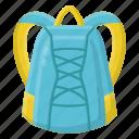 backpack, bag, bagpack icon