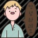 korean, foreign, language, speaking, classroom