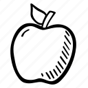 apple, food, fruit, school, snack, teacher icon