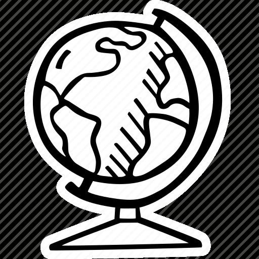 education, globe, kids, learning, preschool, school icon