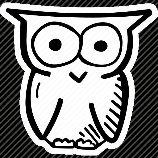 education, kids, learning, owl, preschool, school icon