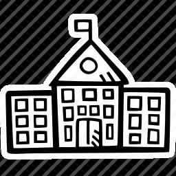 building, education, kids, learning, preschool, school icon
