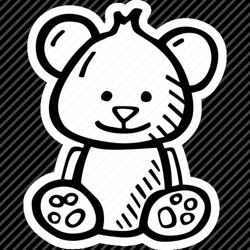 bear, kids, teddy, teddy bear, teddybear, toy icon