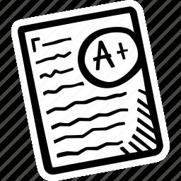 education, kids, learning, preschool, school, test icon