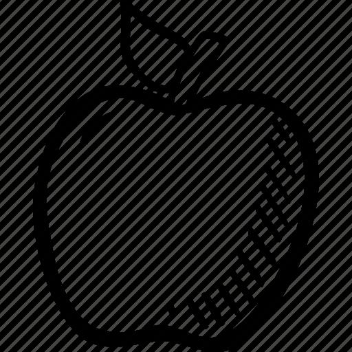 apple, education, food, fruit, school, teacher icon
