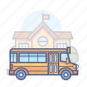 school bus, transport icon