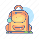 backpack, learning, school, schoolbag icon