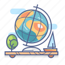 globe, location, map, navigation icon