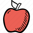 apple, food, fruit, gift, snack, teacher icon