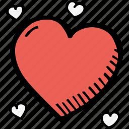 education, heart, kids, learning, preschool, school icon