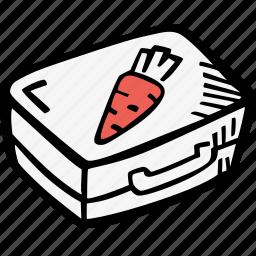 education, kids, learning, lunchbox, preschool, school icon