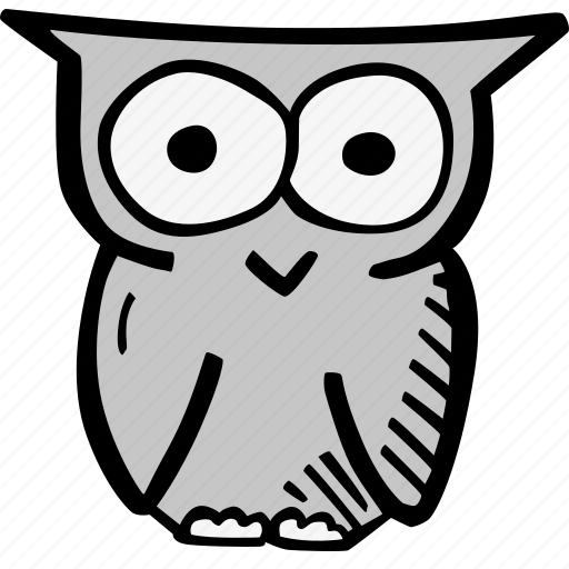 education, kids, learning, owl, preschool, school icon
