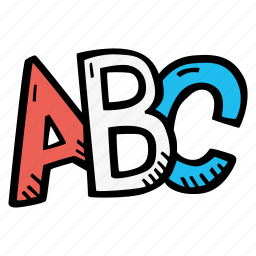 abc, education, kids, learning, letters, preschool, school icon