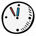 clock, education, kids, learning, preschool, school icon