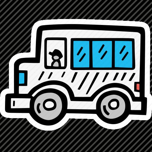 bus, education, kids, learning, preschool, school icon