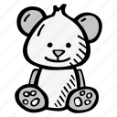 bear, kids, teddy, teddy bear, teddybear, toy icon