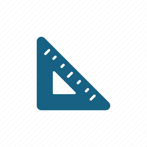 education, geometry, ruler, triangle icon