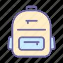 backpack, bag, travel, school, education