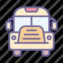 bus, transportation, transport, vehicle, school