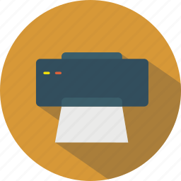 device, hardware, office, output, paper, print icon