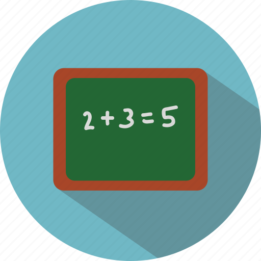 education, math, school blackboard icon