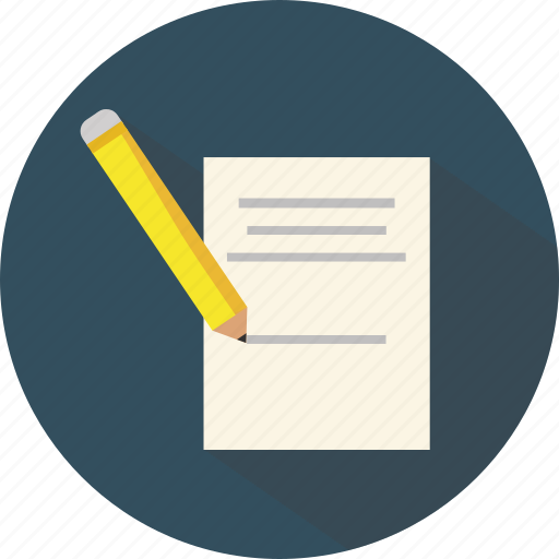document, file, office, page, paper, paragraph, pencil icon