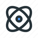 atom, education, learning, orbit, physics, school, study icon