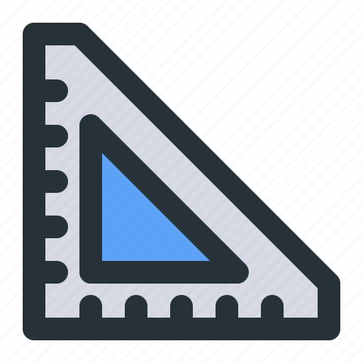 education, learning, measure, measurement, ruler, school, study icon