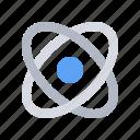 atom, education, learning, orbit, physics, school, study icon