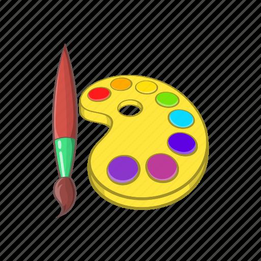 Art Brush Cartoon Color Education Paint Watercolor Icon