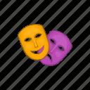 art, cartoon, comedy, face, mask, performance, theater