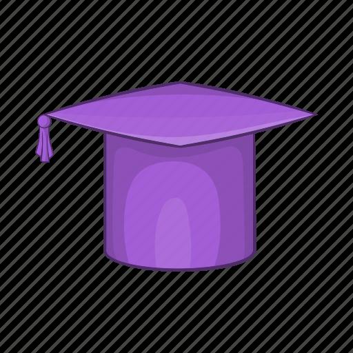 cap, cartoon, education, hat, school, student, university icon