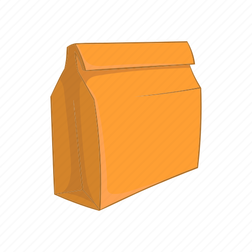 bag, cartoon, container, food, lunch, lunchbox, school icon