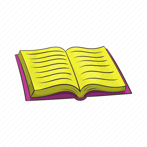 book, cartoon, education, library, literature, open, paper icon