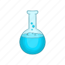 cartoon, chemistry, equipment, experiment, flask, medicine, test icon