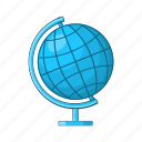 cartoon, earth, education, geography, globe, map, planet