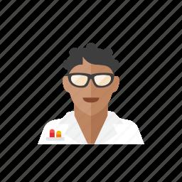 1, scientist, woman icon