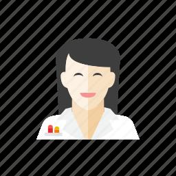 2, scientist, woman icon