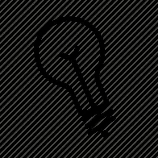 bulb, electric, energy, idea, lamp, light, light bulb, lighting, lightning icon
