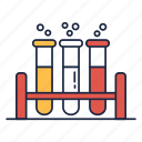 experiment, school, study, test tube icon