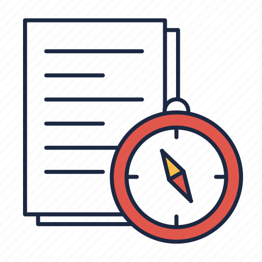 exam, paper, test, time icon