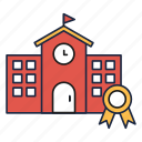 house, library, school, university icon